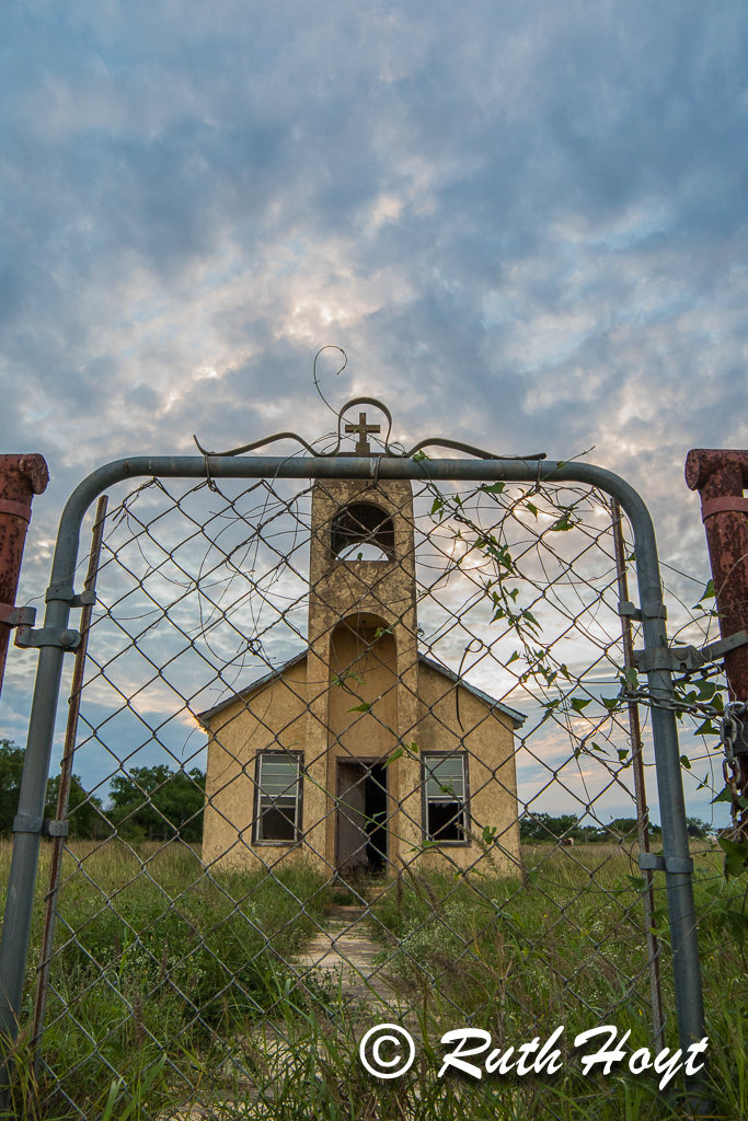 Little Church on Highway 1017 Outside San Isidro, Texas