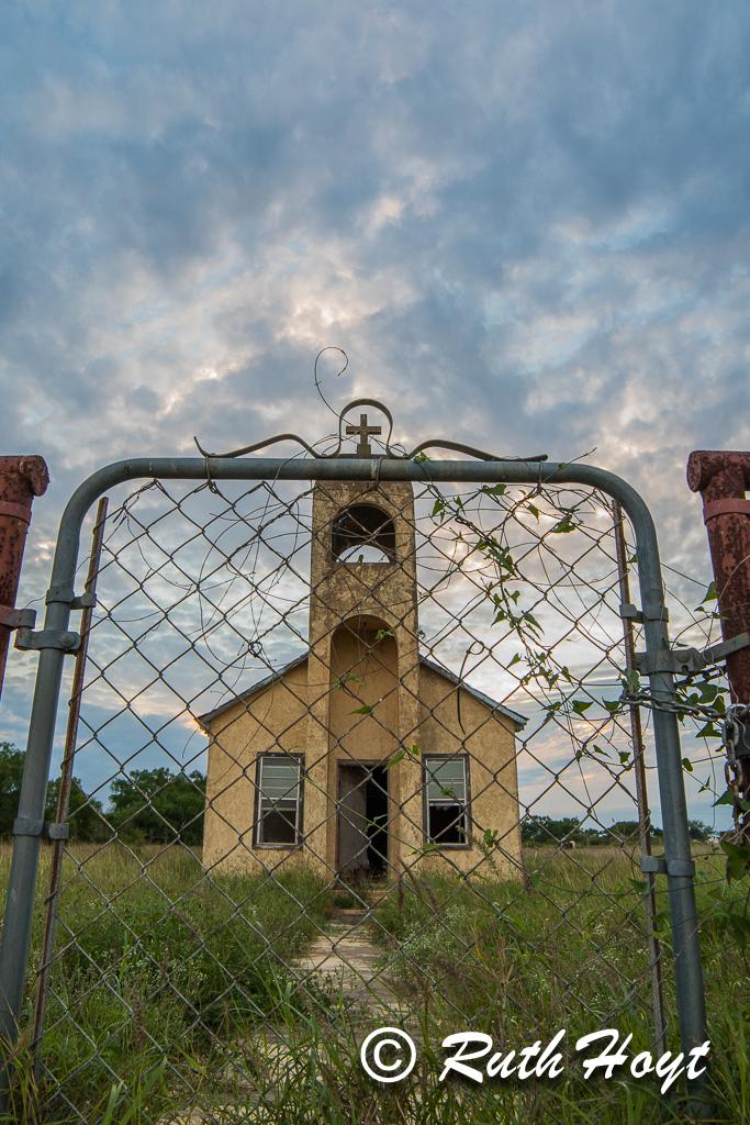 Little Church on Highway 1017 Outside San Isidro, Texas
